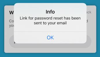 Link to password reset