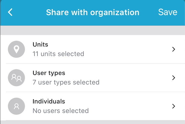 Sharing with your organisation